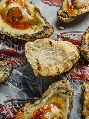 Classic Candy Charbroiled Oysters